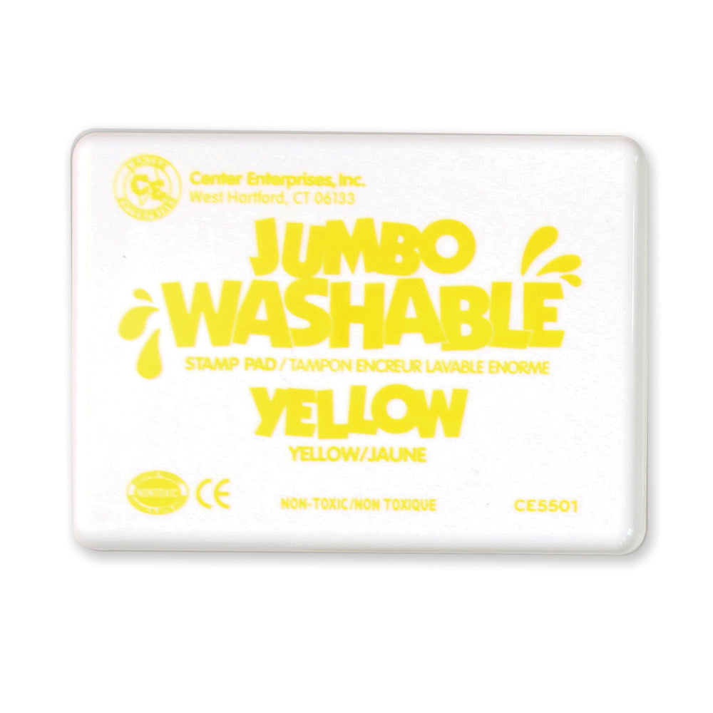 (2 Ea) Jumbo Stamp Pad Yellow Washable