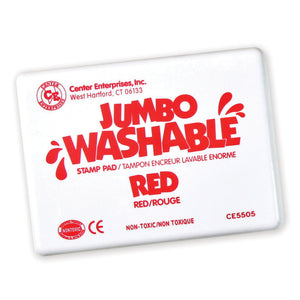 (2 Ea) Jumbo Stamp Pad Red Washable