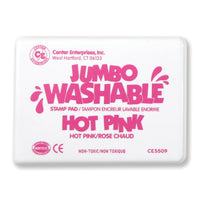 (2 Ea) Jumbo Stamp Pad Hot Pink Washable