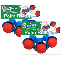 (2 Pk) Palm Modeling Dough Rollers 3 Per Pack