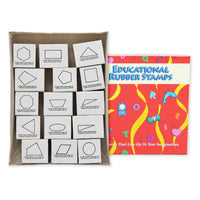 Stamp Set Plane Geometry 15-pk Wood