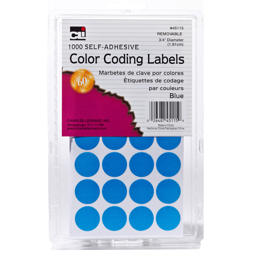 (12 Pk) Color Coding Labels Blue