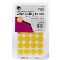 (12 Pk) Color Coding Labels Yellow