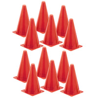 (12 Ea) Safety Cone 9in High