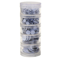 (2 Pk) Wiggle Eyes Stacking Storage Containers With Eyes