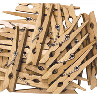 (6 Pk) Large Spring Clothespins Natural