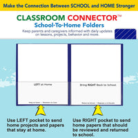 C-line Blu 25ct Classroom Connector School To Home Folders
