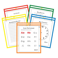 Reusable Dry Erase Pockets 25-box Assorted Primary 9 X 12