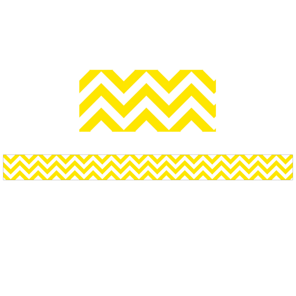 (6 Pk) Yellow Chevron Border