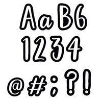 (3 Pk) 4in Bold Bright Class Cafe Letters Designer