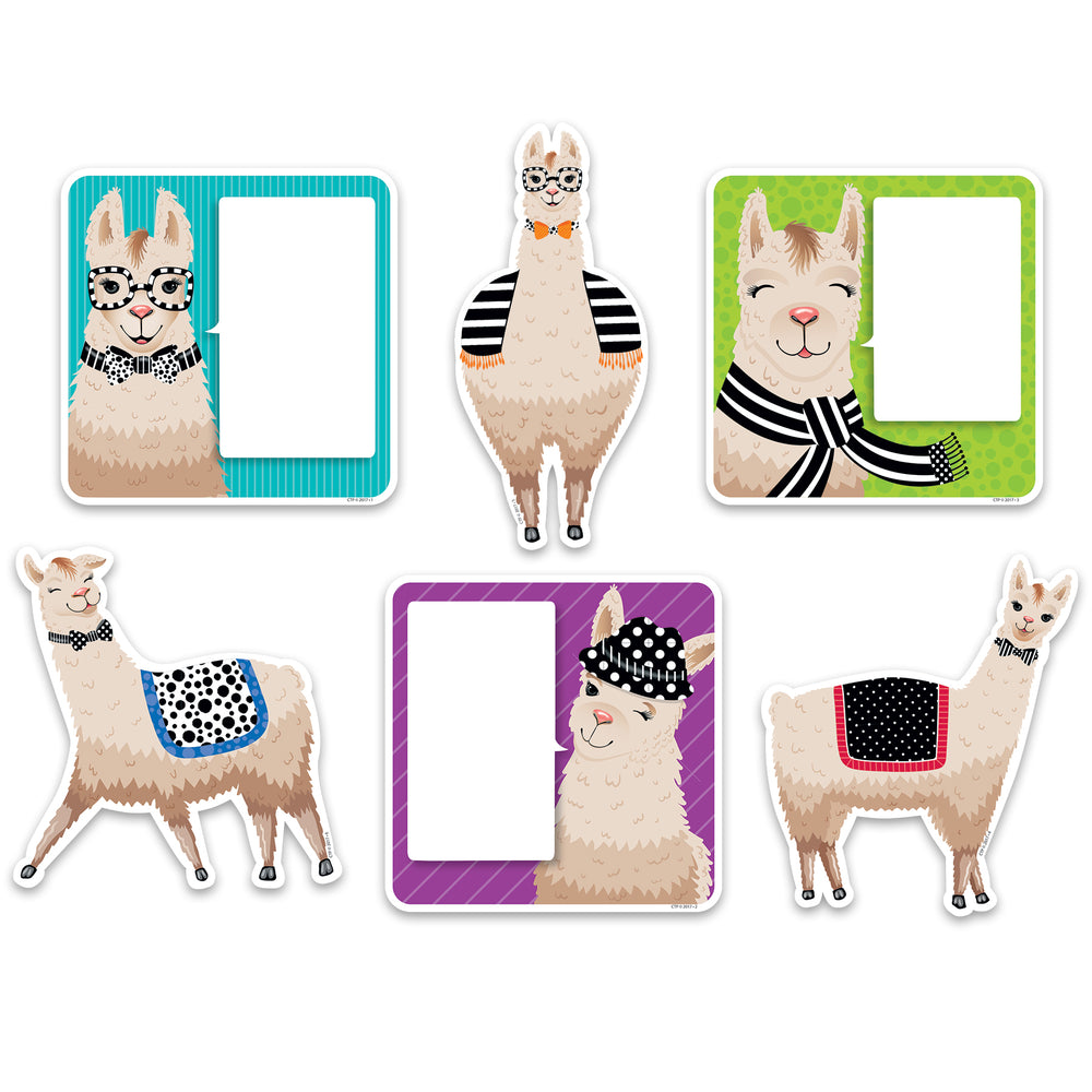 6in Bold Bright Llamas Cutouts Designer