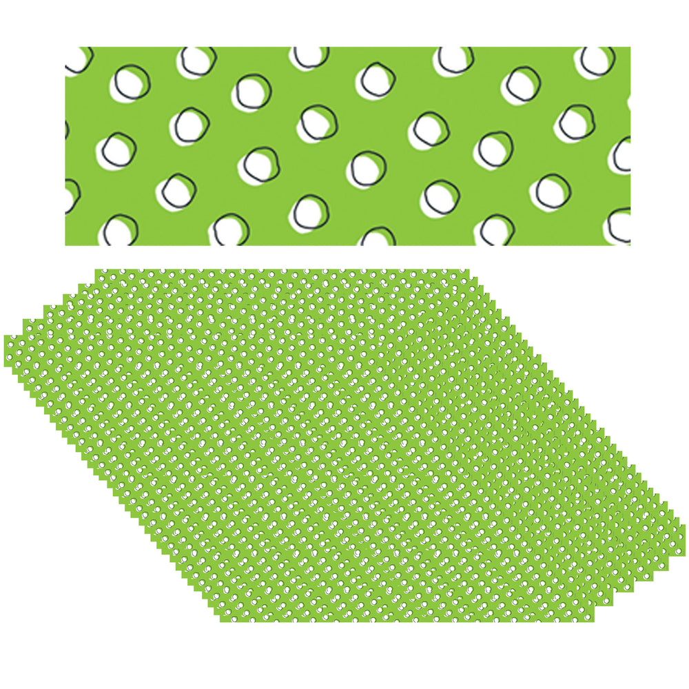 (6 Pk) Doodles Dots On Lime Border So Much Pun
