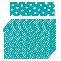 (6 Pk) Doodles Dots On Teal Border So Much Pun