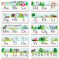 (2 Ea) Woodland Friends Alphabet Line