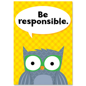 (6 Ea) Be Responsible Woodland Friends Inspire U Poster