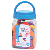 (2 Ea) Rainbow Pebbles Mini Jar