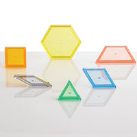 Transparent Pattern Blocks Mini Jar