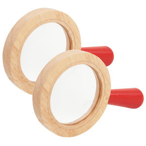 (2 Ea) Wooden Surround Hand Lens