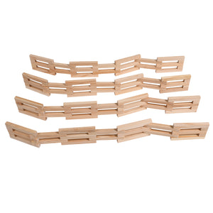 Wooden Fences Set Of 4