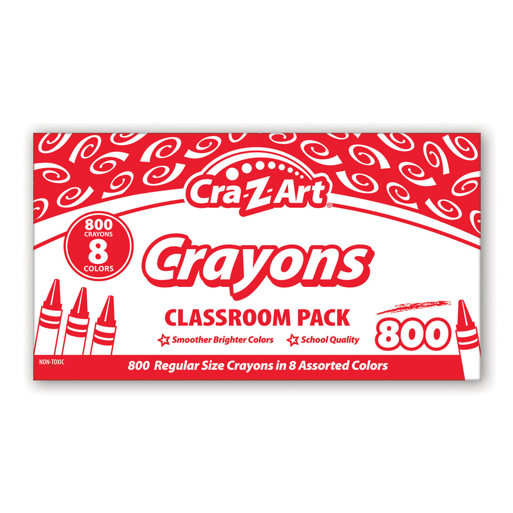 Crayon Classroom Pack 8 Color 800 Count Box