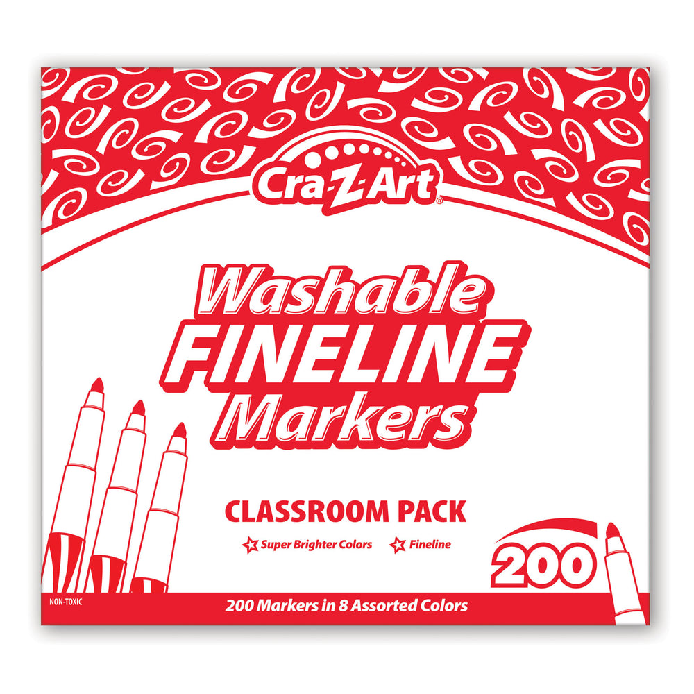 Washable Markers Class Pk 10 Color Fine 200ct