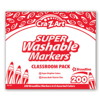 Washable Marker Classroom Pack Broadline  8 Color 200ct