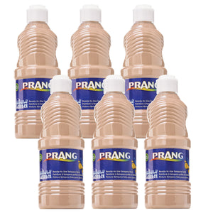 (6 Ea) Prang Washable 16oz Paint Peach