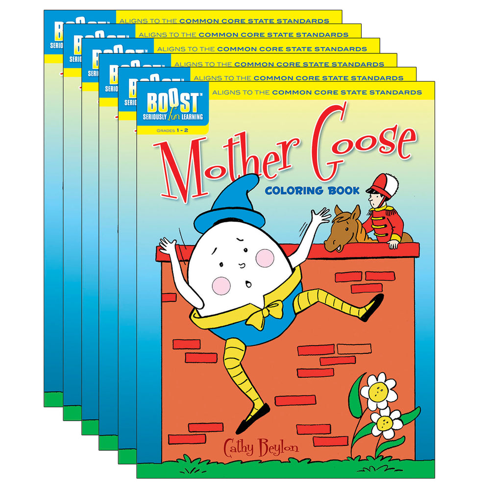 (6 Ea) Boost Mother Goose Coloring Book Gr 1-2