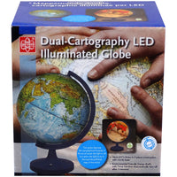 Dual Cartography Led Illuminated Globe