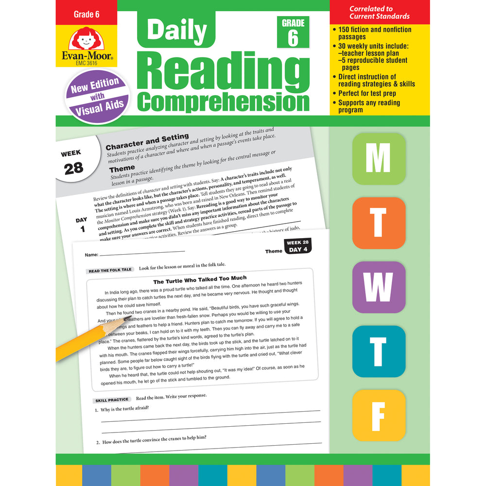 Daily Reading Comprehension Gr 6