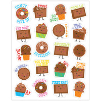(6 Pk) Chocolate Stickers Scented