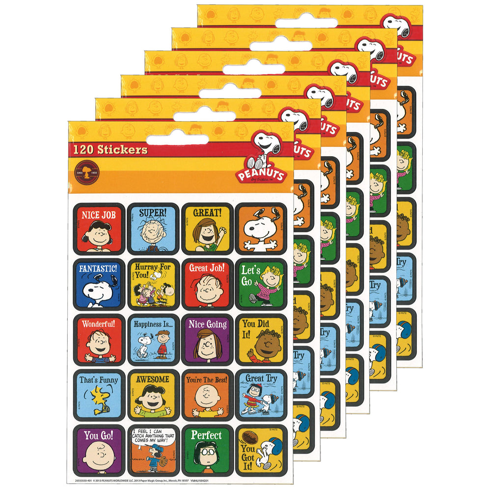 (12 Pk) Peanuts Motivational Theme Stickers
