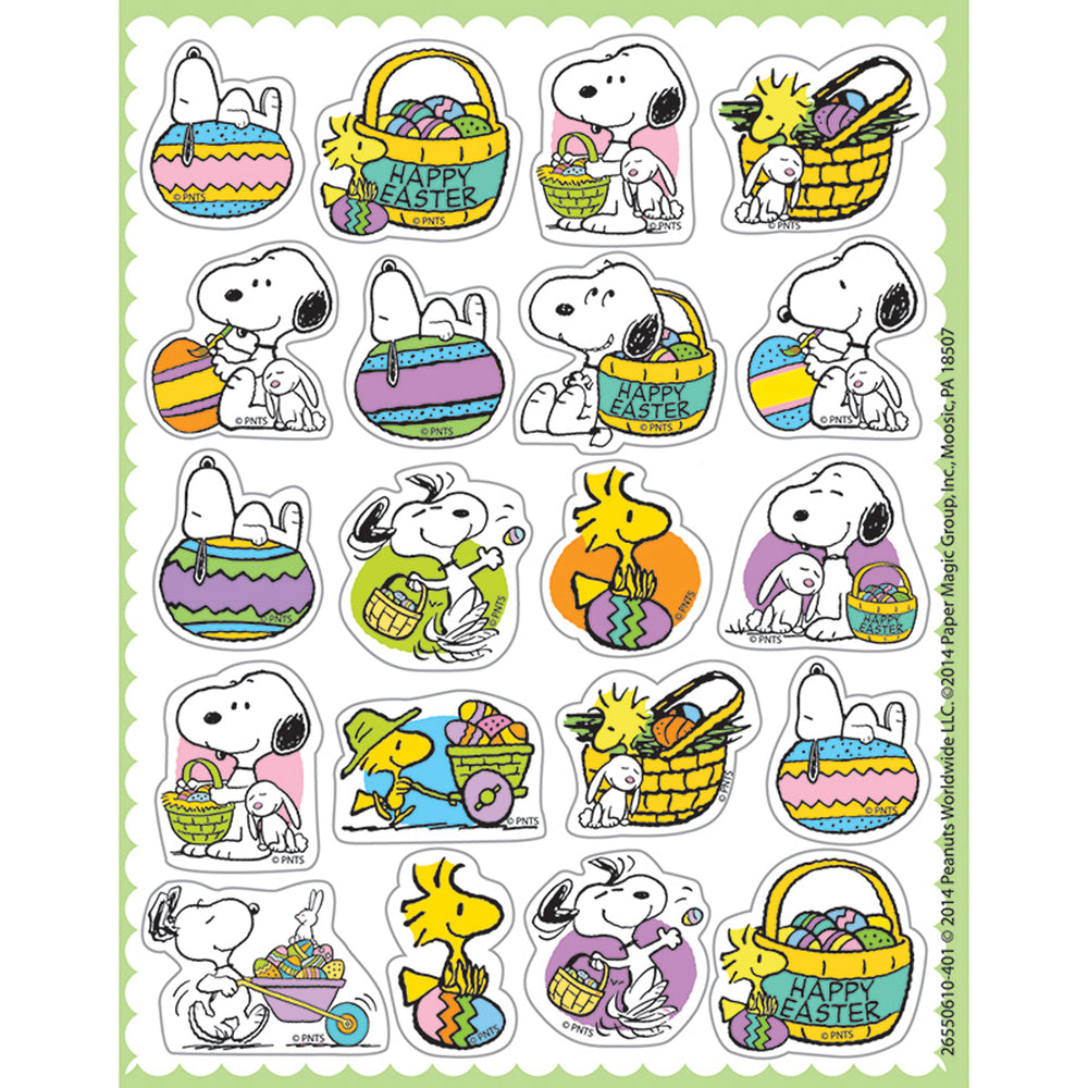 Peanuts Easter Theme Stickers