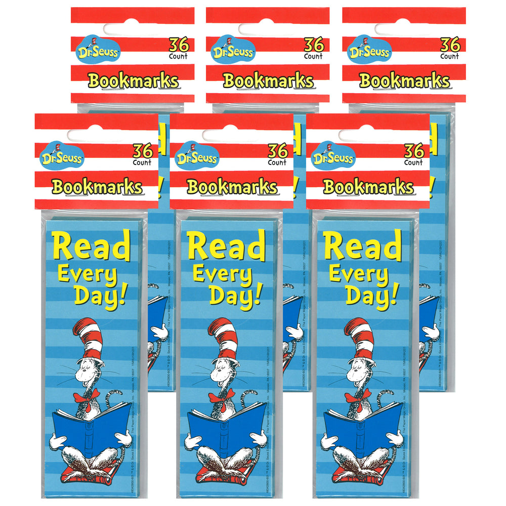 (6 Pk) Cat In The Hat Read Every Day Bookmarks