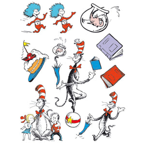 Cat In The Hat Characters 12 X 17 Window Clings