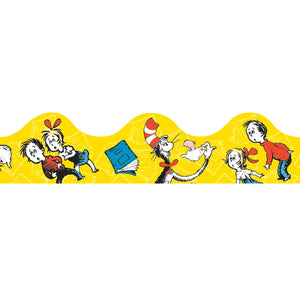 (6 Pk) Cat In The Hat Yellow Deco Trim