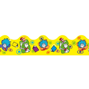 (3 Pk) Dr Seuss Yellow Extra Wide Die Cut Deco Trim