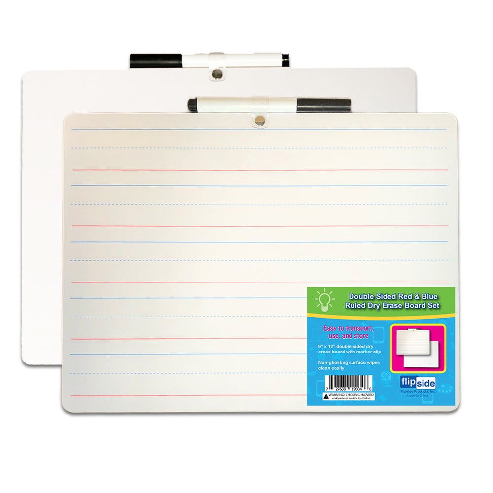 Primary Ruled Dry Erase Board W- Marker