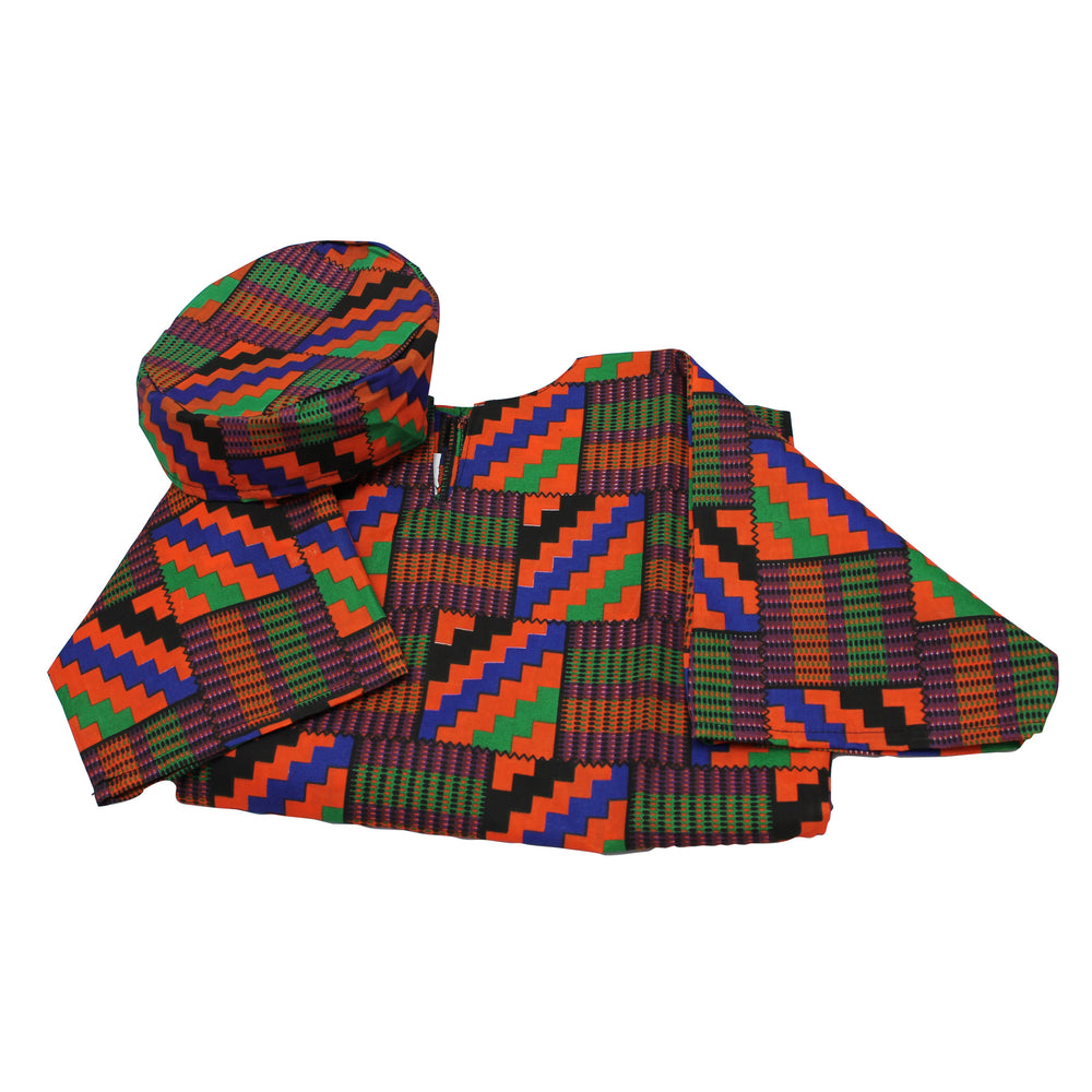 Ethnic Costumes Boys West African Shirt & Hat