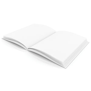 Plain White Blank Book 8.5w X 11h Hardcover 28 Pages 14 Sheets