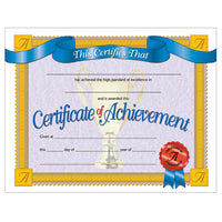 (3 Pk) Certificates Of Achievement Inkjet Laser 8.5x11 30 Per Pk