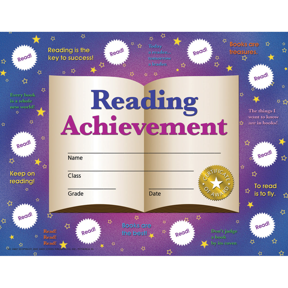 (3 Pk) Reading Achievement 30 Per Pk
