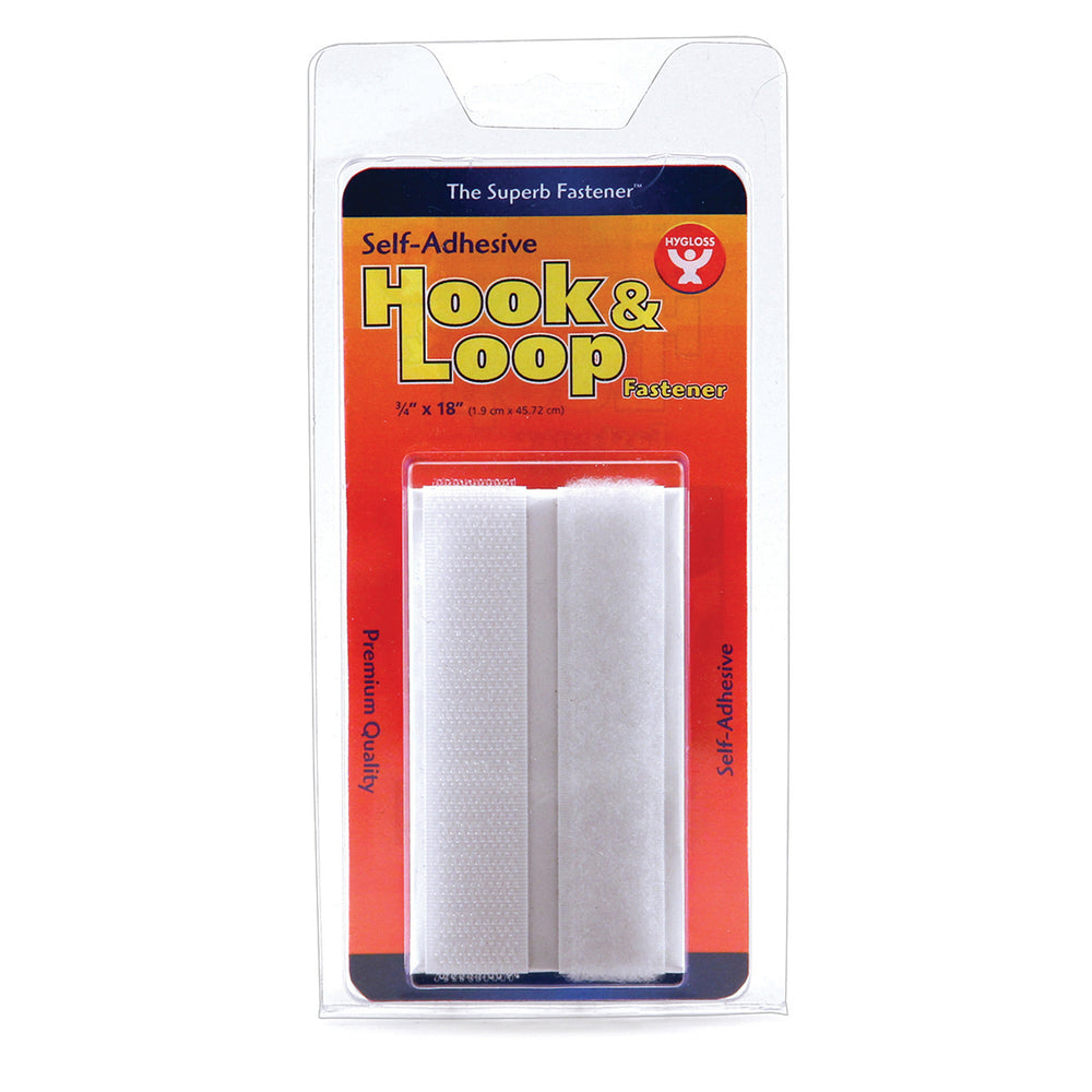 (8 Pk) Hook & Loop Fastener Roll 3-4x18