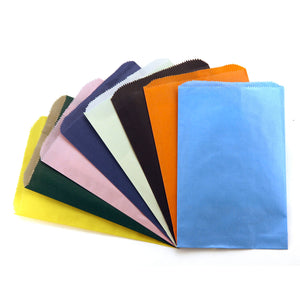 (6 Pk) Colorful Paper Bags 6x9 Asstd Color Pinch Bottom