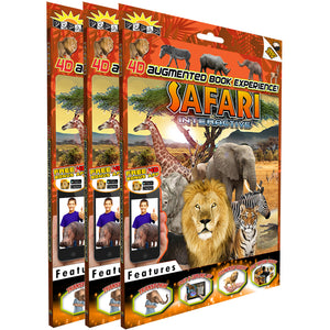 (3 Ea) Safari Interactive Smart Book