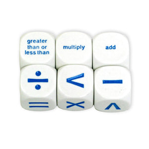 (6 St) Math Operation Dice 6 Per Pk