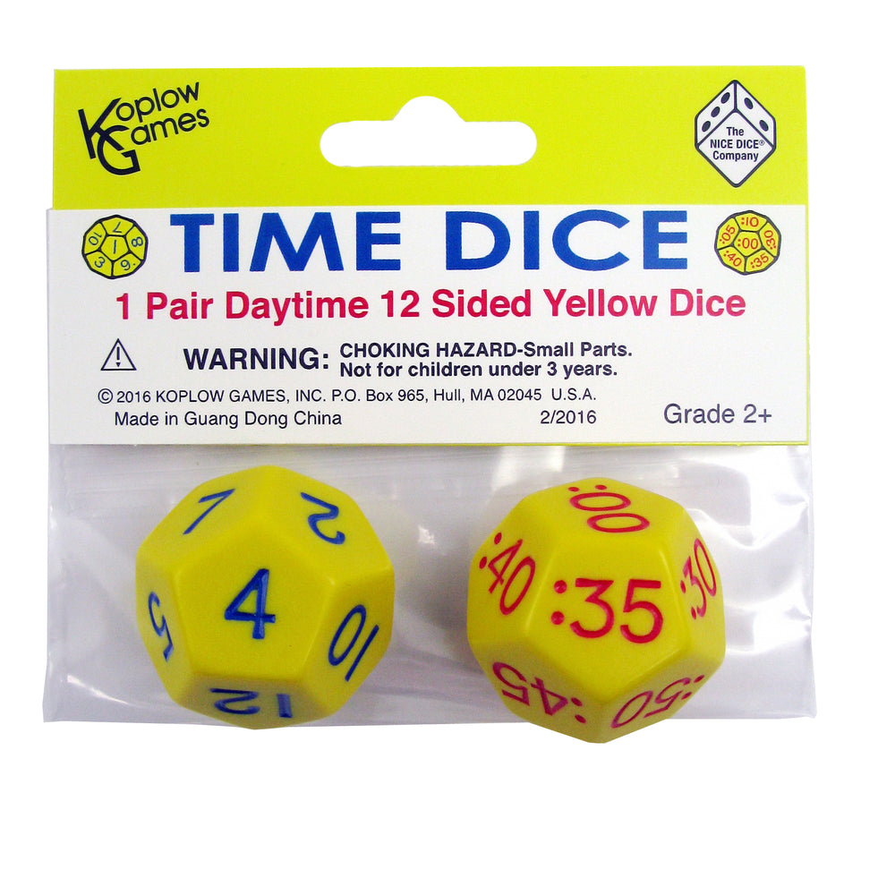 (6 St) Time Dice Pair Of Yellow Am