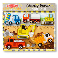 (3 Ea) Construction Chunky Puzzle