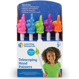 Telescoping Hand Pointers In Pop Display
