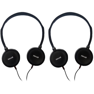 (2 Ea) Hp-100 Budget Stereo Headphones